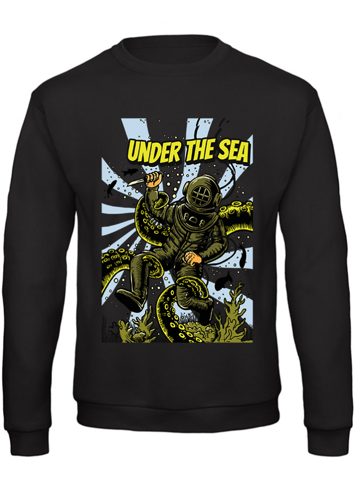 "Felpa uomo ""under the sea"" nera"