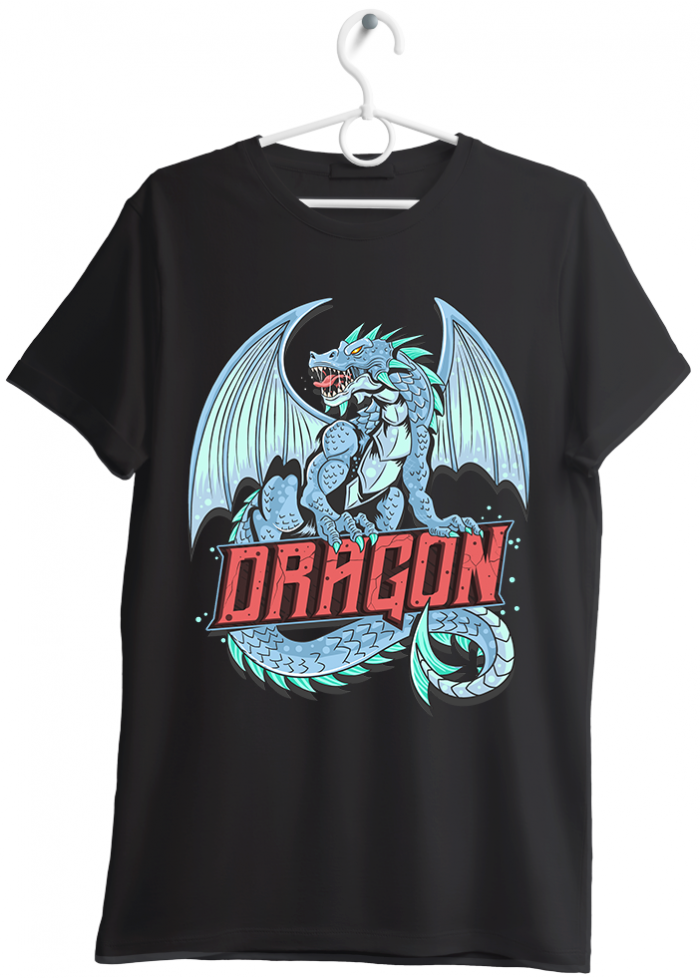 "T-shirt uomo ""dragon"" nero"