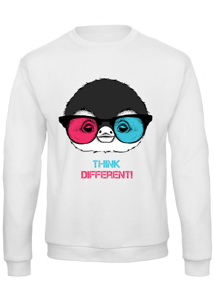 "Felpa donna ""think different pingu"""