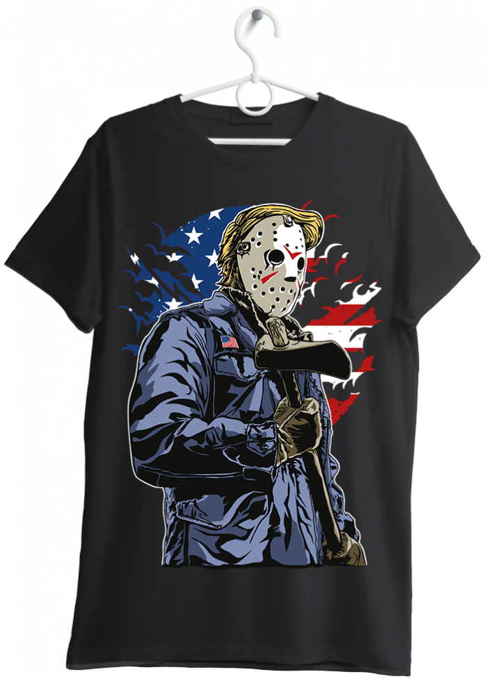 "T-shirt uomo ""american killer"" nero"