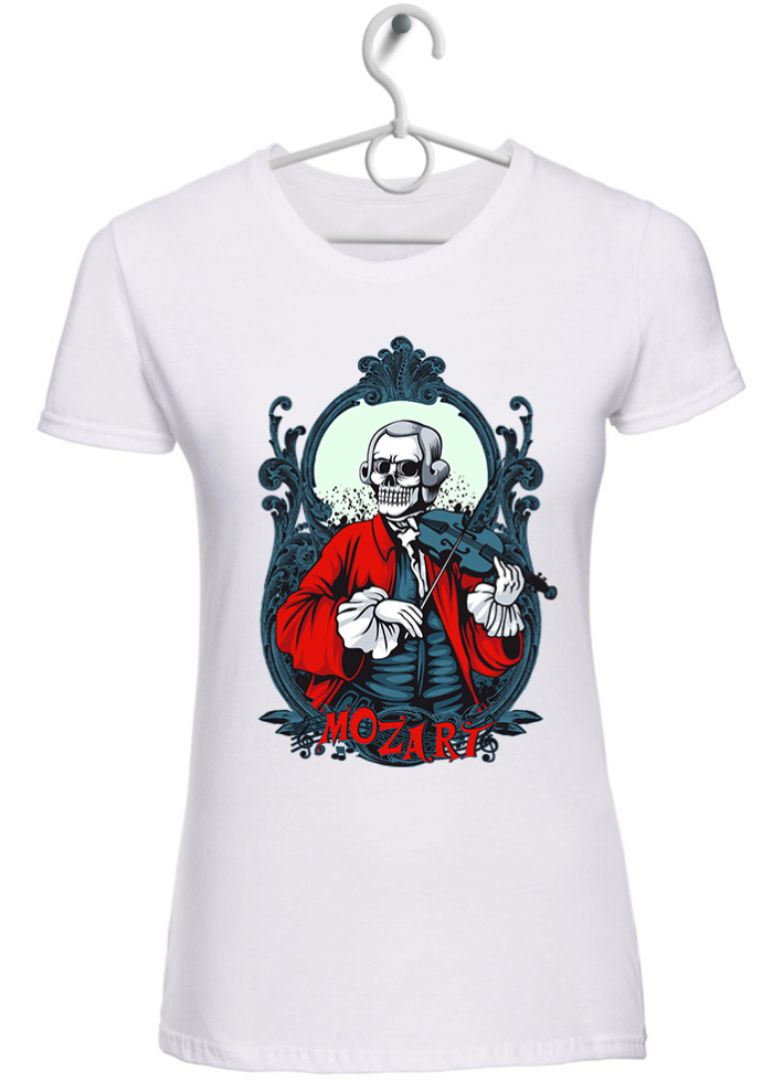 """T-shirt donna """"liberty forever"""" bianca"""
