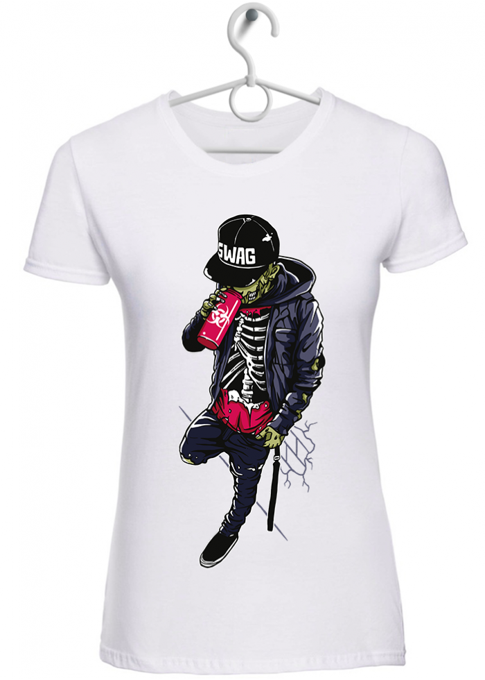 """T-shirt donna """"zombie swag"""" bianca"""