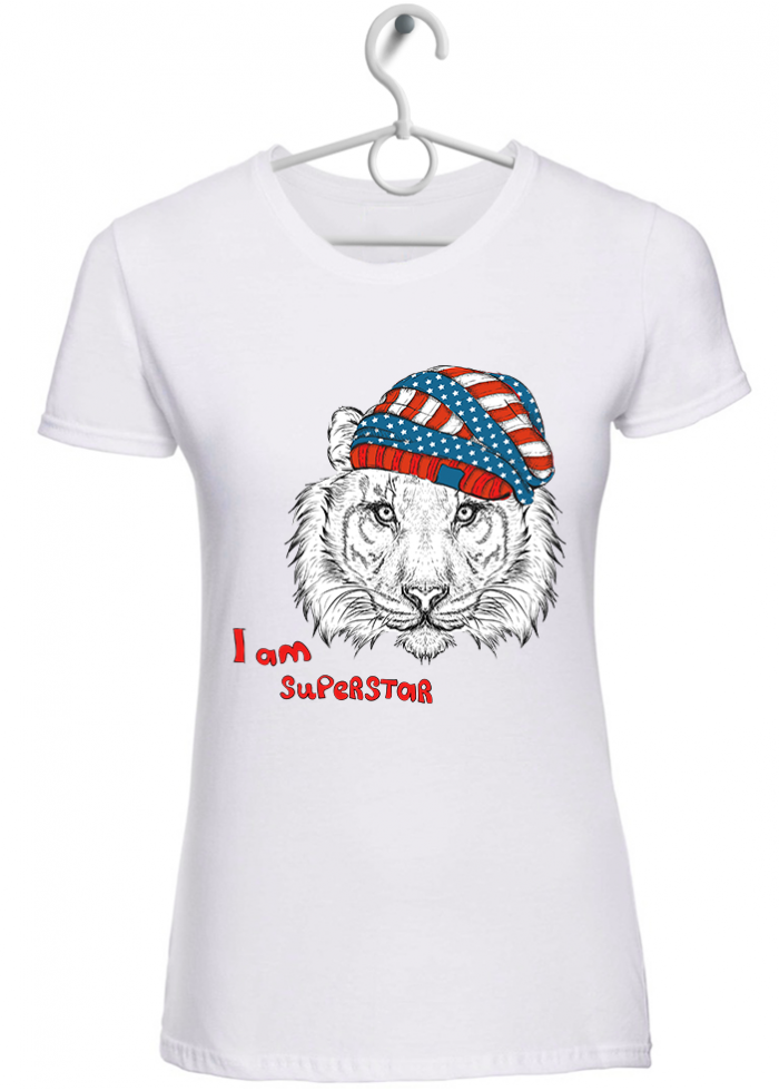 "T-shirt donna ""lion superstar"""