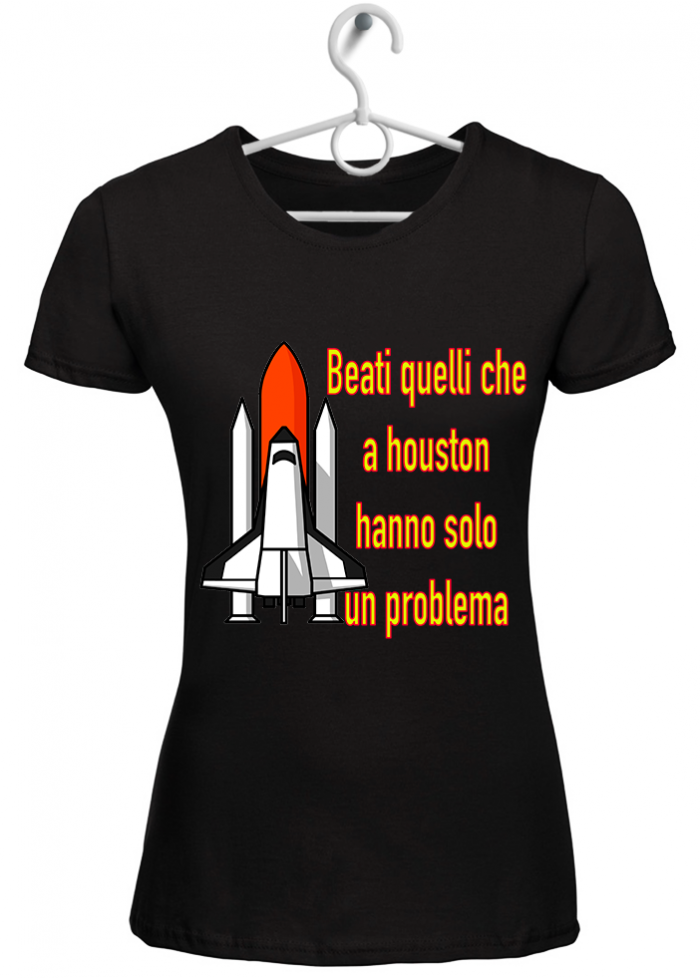 "T-shirt donna ""houston"" nera"