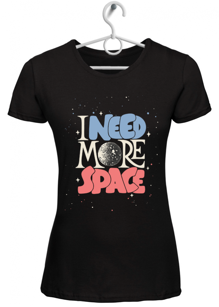 """T-shirt donna """"stay on earth"""" nera"""