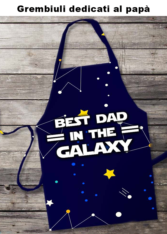"Grembiule ""best dad in the galaxy"""