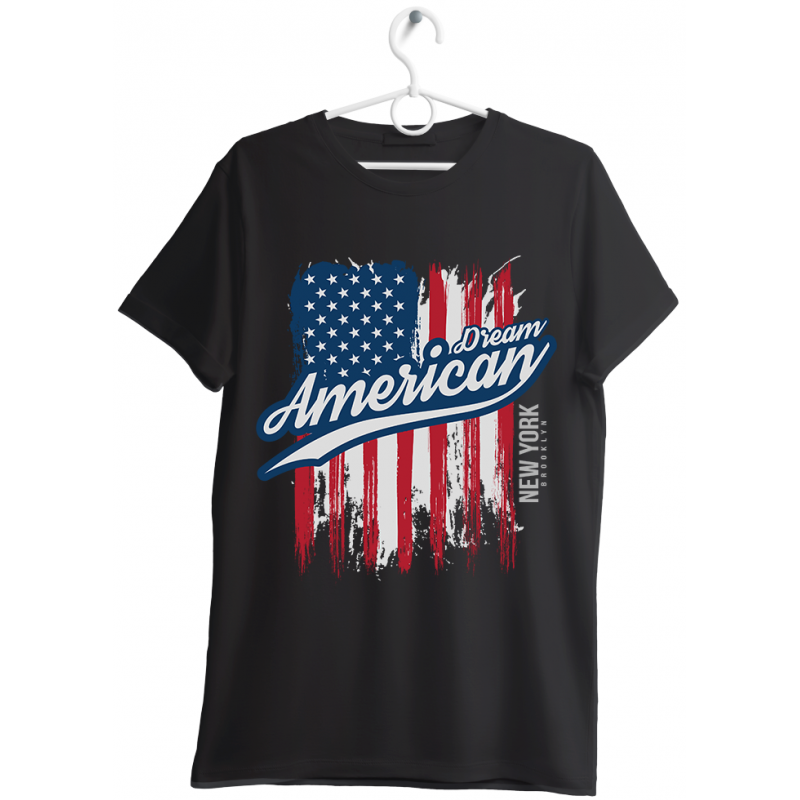 "T-shirt uomo ""american dream"" nero"