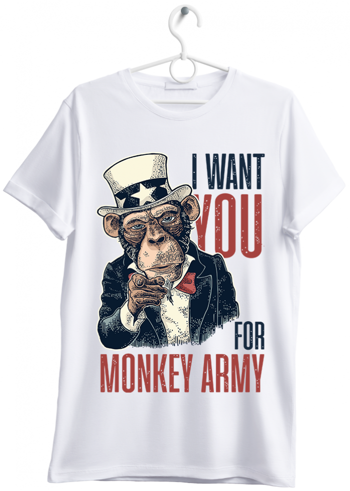 "T-shirt uomo ""i want you"" bianco"