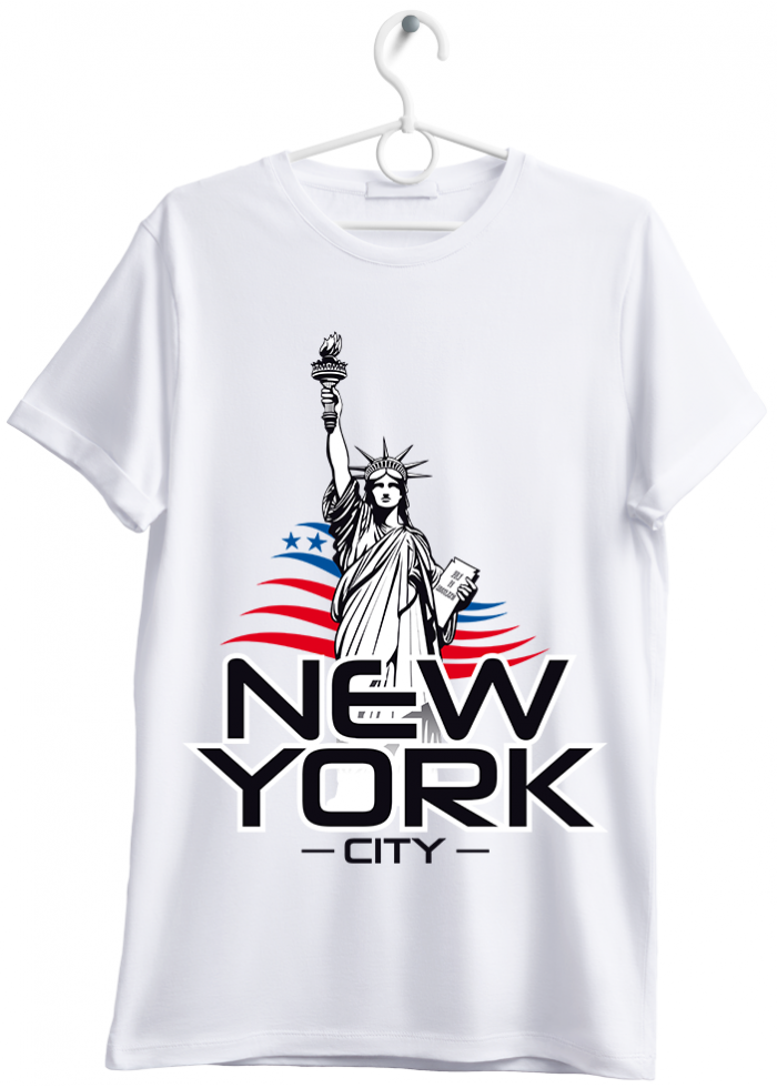 "T-shirt uomo ""New York City"" bianco"