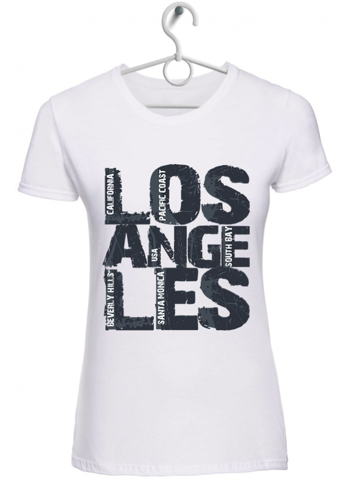"T-shirt donna ""Los Angeles"" bianca"