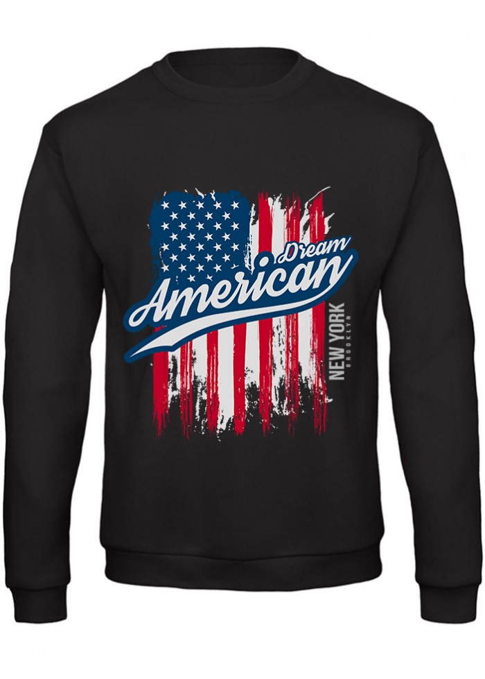 "Felpa uomo ""dream american"" black"