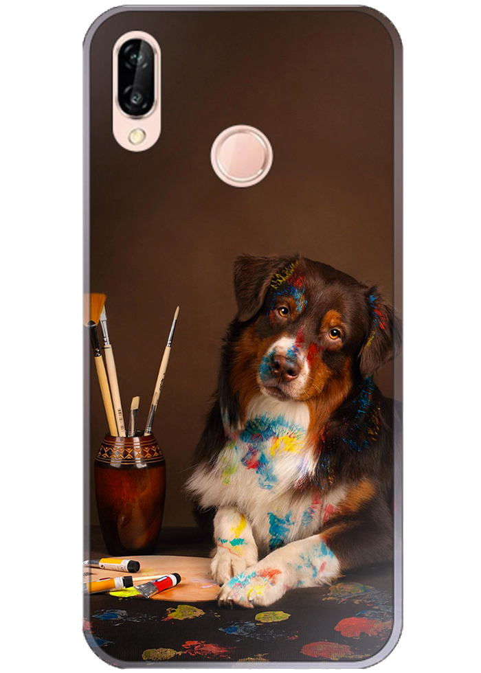 "Cover Huawei ""cane pittore"""